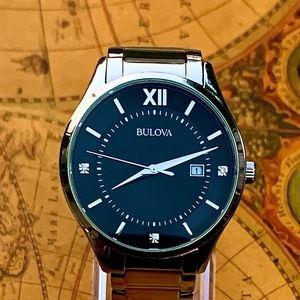 Bulova Men's Diamond Accents 40mm Watch